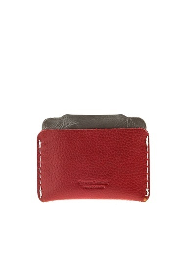 Cotton Bar Clutch / El Çantası Bordo